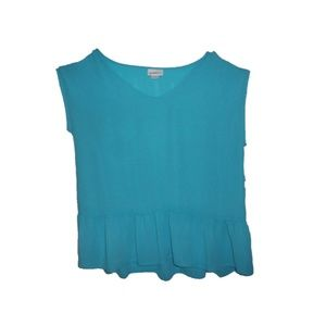 Liz Claiborne Women's Scuba Blue Hot House Blouse
